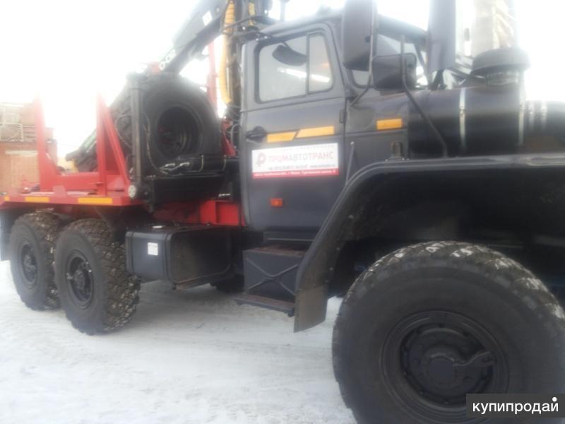 Заводские лесовозные тягачи Урал Е-4, пневматика с манипуляторами от производите