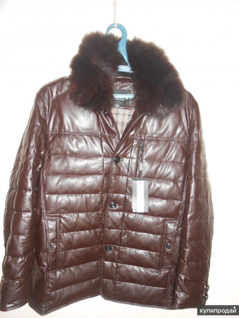 Куртка зимняя кожаная,.
