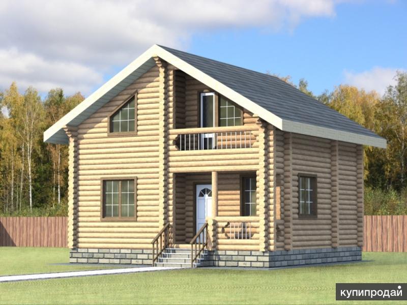 Дом из оцилиндрованного бревна диаметром 220мм