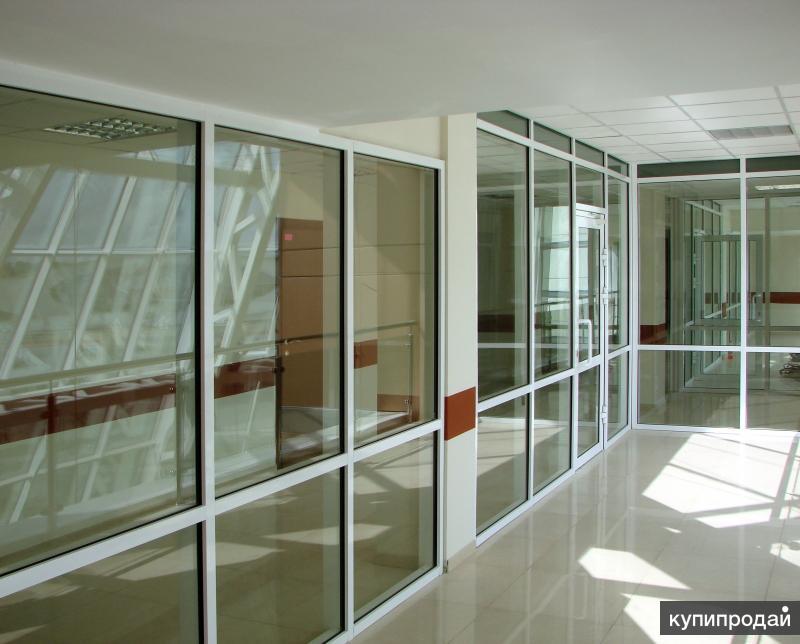 Противопожарные стеклянные конструкции