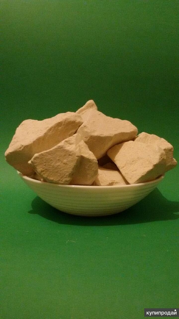 Продам глину пищевую белую, голубую, зеленую, каолин и бентонит
