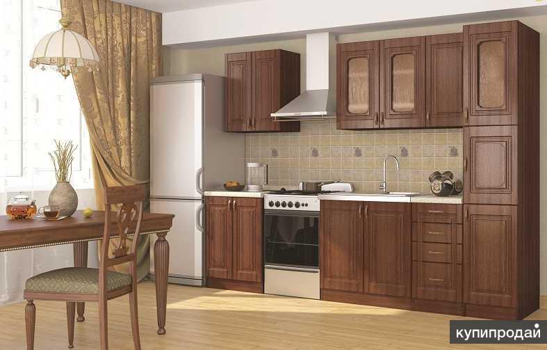 Кухонный гарнитур Верона с пеналом (2,2 м)