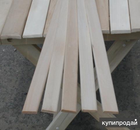 Вагонка, полог и погонажные изделия из осины