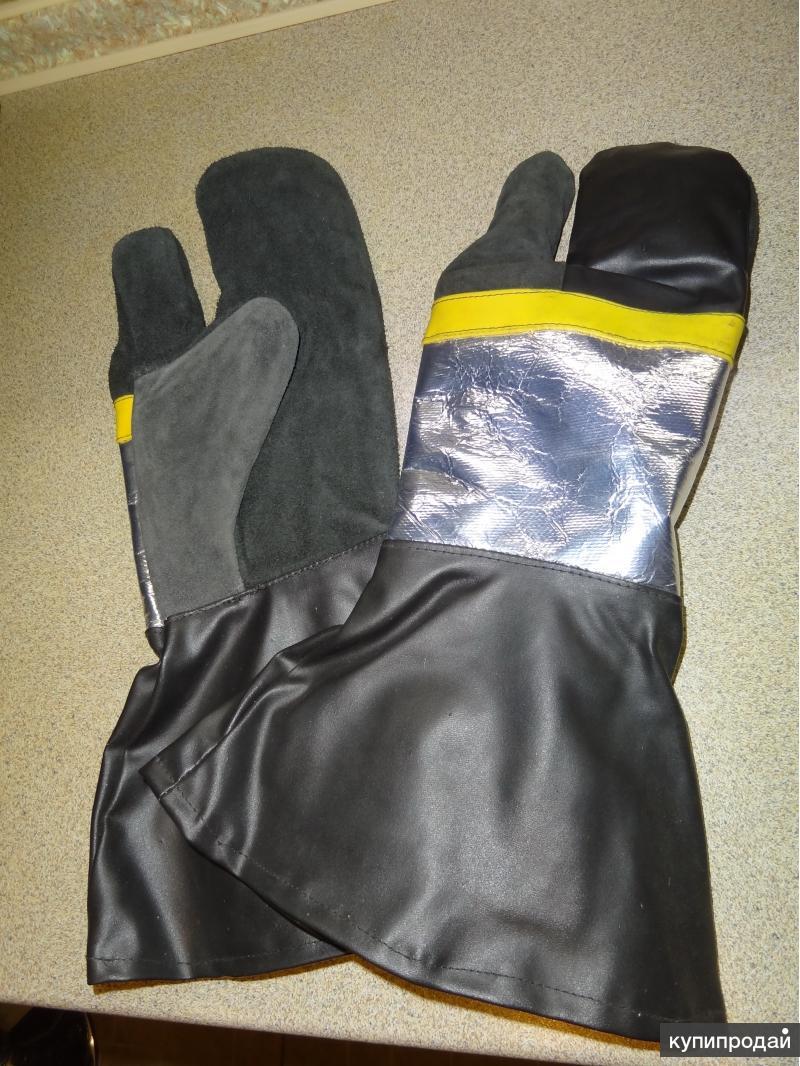 Перчатки, рукавицы, огнезащитные с манжетой-крагой