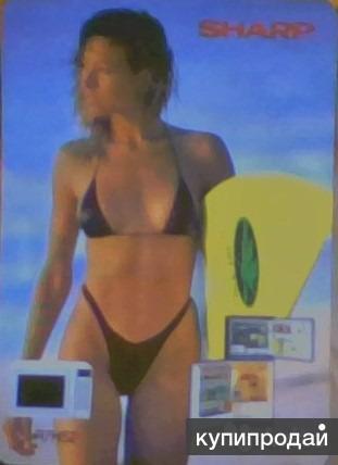 Календарик карманный. sharp. 1991 г