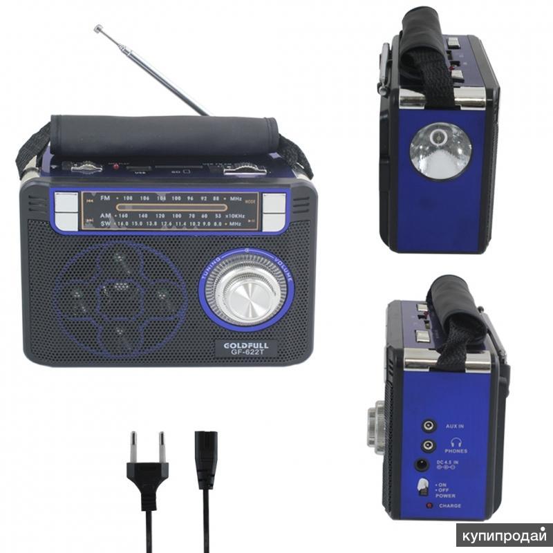 Колонки с фонариком, радиоприемником, usb, микроsd