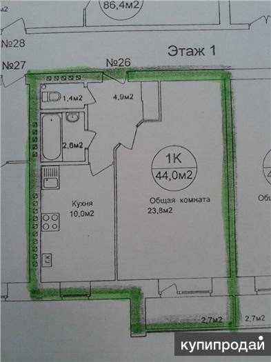 Продам однокомнатную квартиру в новом доме Дом Сдан Качество постройки на