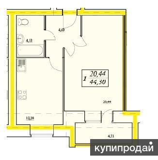 Продам однокомнатную квартиру в новом кирпичном доме Дом построен полностью из
