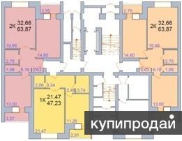 Продам однокомнатную квартиру в новом сданном доме Просторная комната.