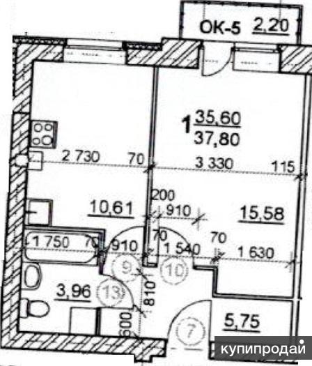 Продам однокомнатную квартиру в новом доме комната 15,6 кв.м.; кухня 10,5 кв.м.
