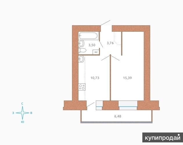 Продаю квартиру согласно ФЗ-214 по Договору долевого участия (обязательно