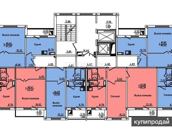 Покровский 6а 3-к квартира, 67 м2, 9/15 эт.