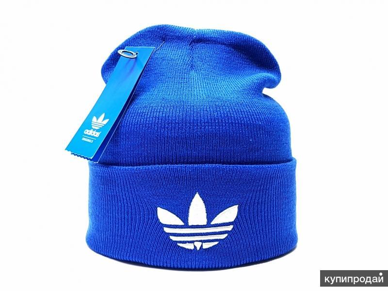Шапка мужская adidas ( синий неон) flap