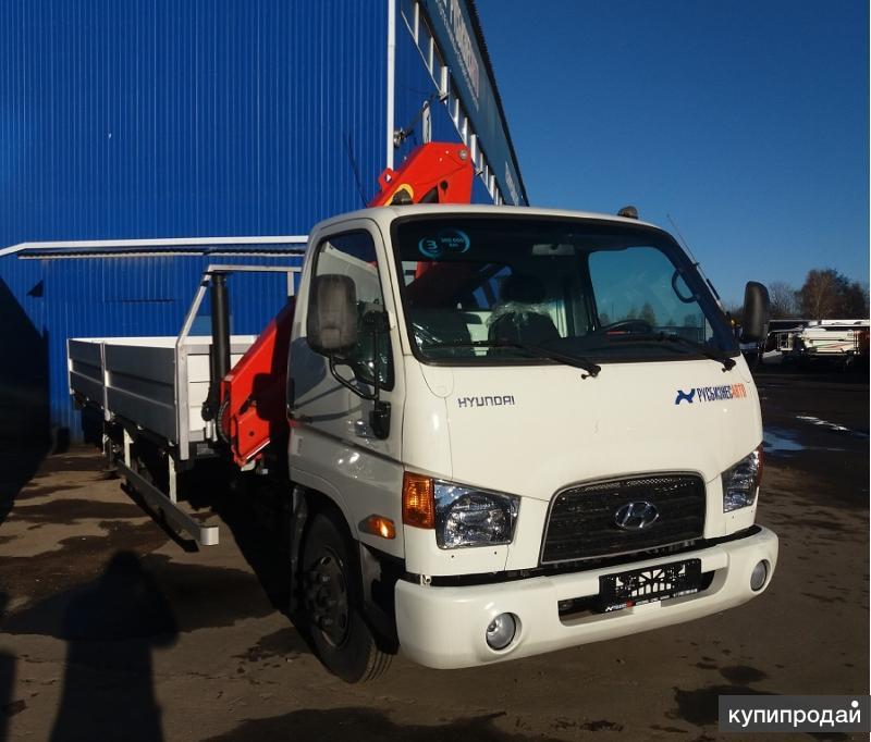 Продам Hyundai HD-78 борт с кму Palfinger PK8500