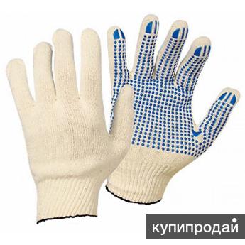 Перчатки х/б Эконом 10 кл. с пвх нанесением, 6 нитей