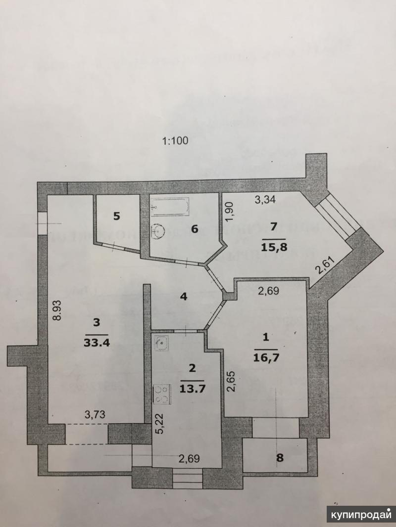 3-к квартира, 98 м2, Белгород, пер.Харьковский, 36 Г
