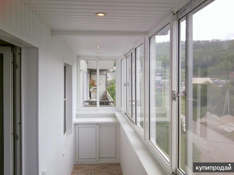 Шкафчики, тумбы на лоджии и балконы из ПВХ и Алюминия