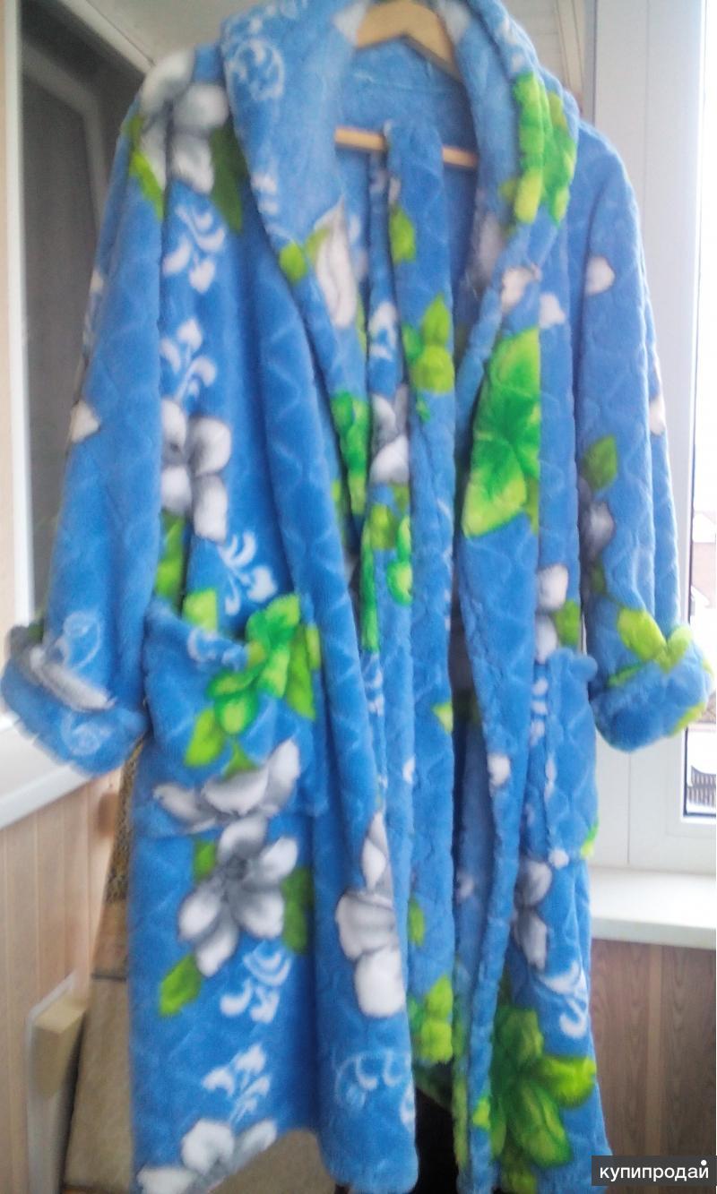 Новый женский теплый халат