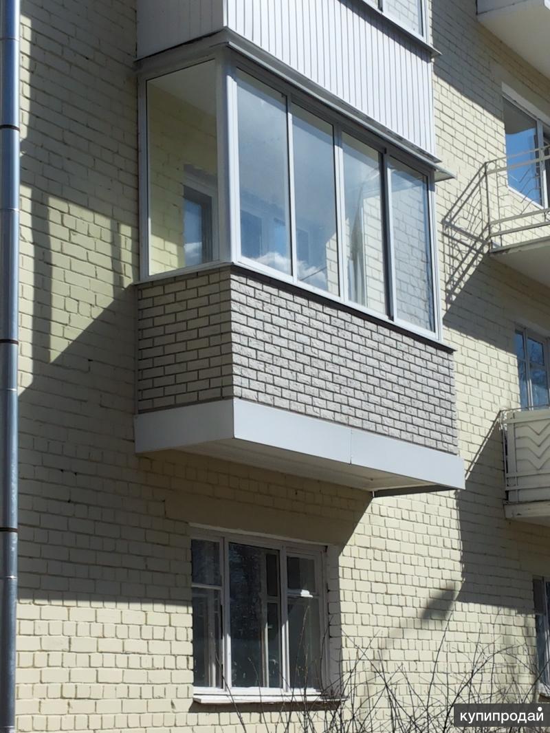 Остекления балконов, внутренняя и наружная отделка тверь.