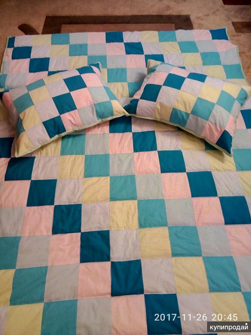 Лоскутное одеяло и подушки