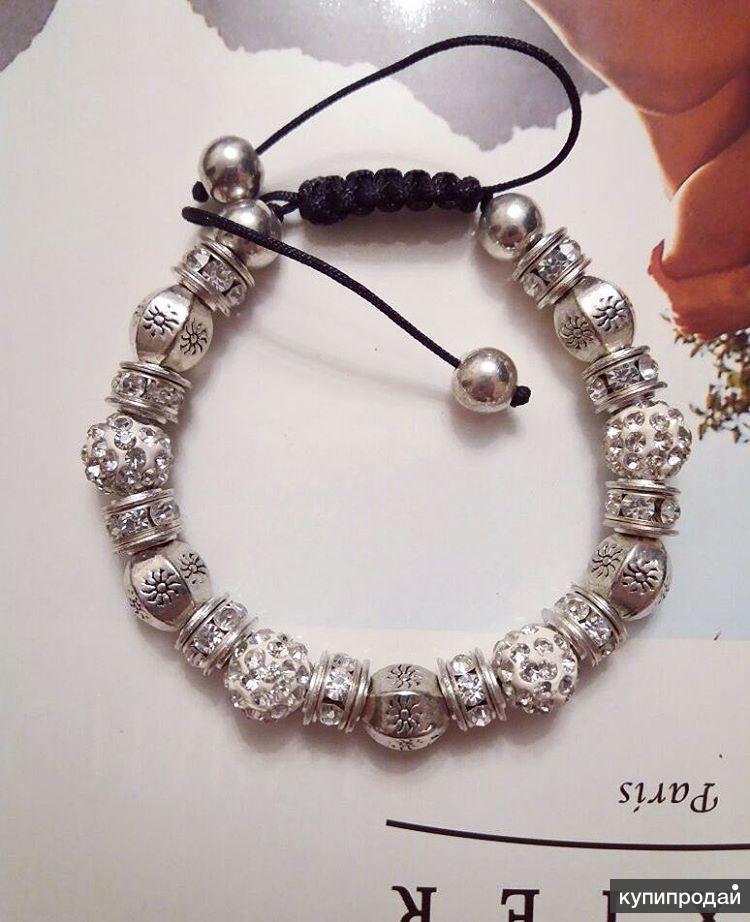 Браслет Sun Silver белые кристаллы R578
