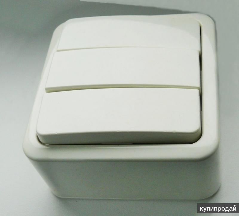 Выключатель накладной 2 и 3-клавишный gusi и др