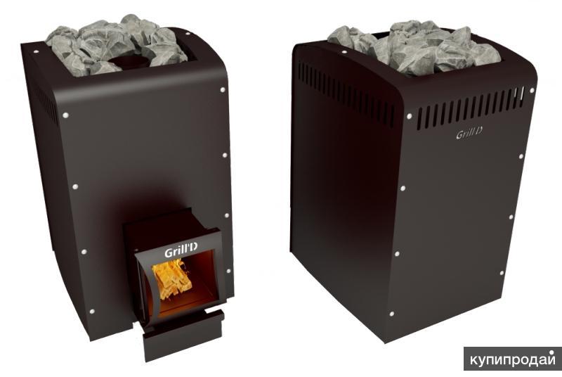 Печь банная из котловой стали