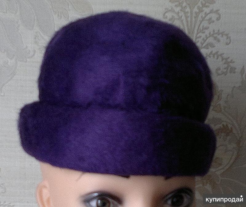 шляпка велюровая женская сиреневая, СССР (6)