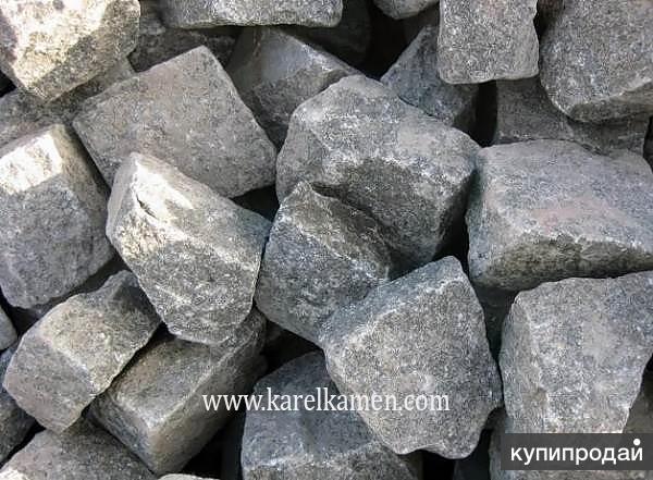 Габбро-диабаз камень для бани, сауны, печи, парилки оптом в Карелии