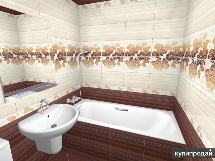 Укладка кафельной плитки. Ванная комната и санузел под ключ.