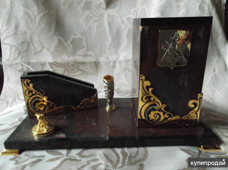 Письменный прибор мини с гербом Ижевска