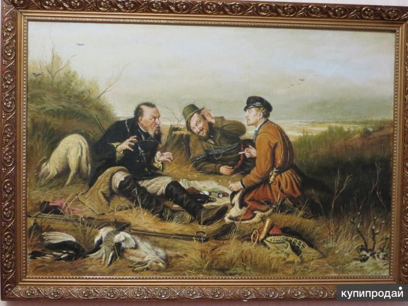 охотники на привале картина проявляет