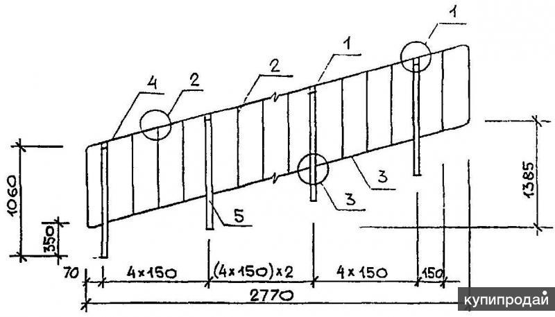 ПЕРИЛА ОМ-15-1 - стальные ограждения лестниц