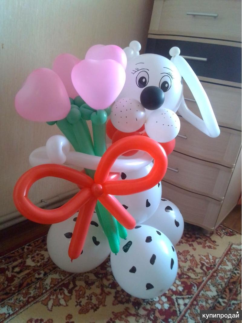 Фигуры и букеты из воздушных шаров в Курске