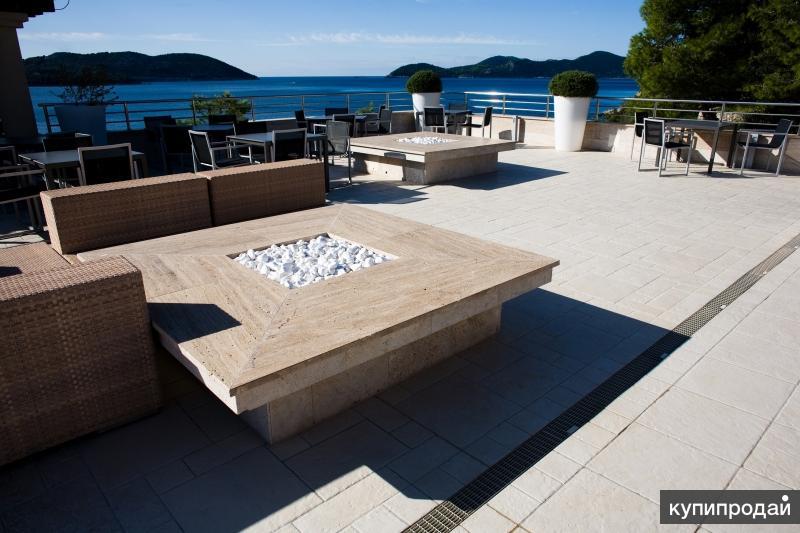 камень для террасы зоны отдыха для влажного клим