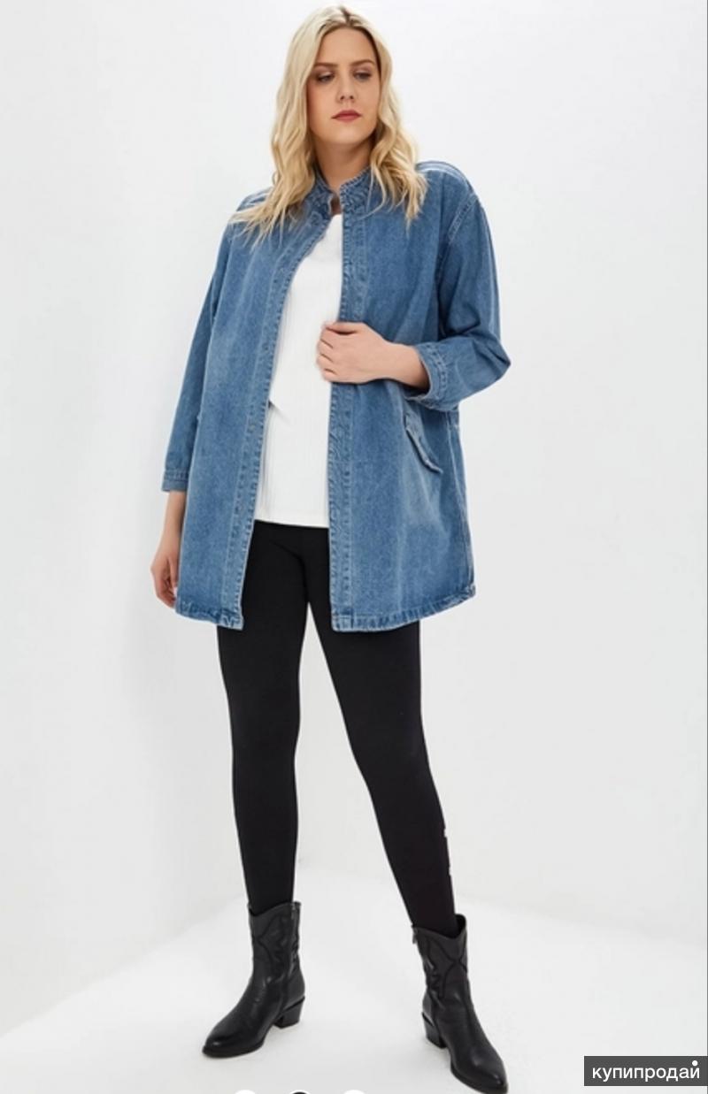 Удлинённая джинсовая куртка
