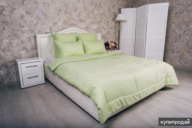 Одеяло «Эвкалипт» 300 г/м2, тик/сатин