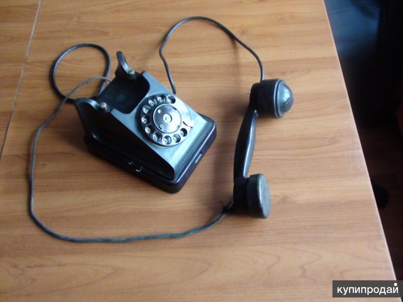 Телефон дисковый карболитовый СССР