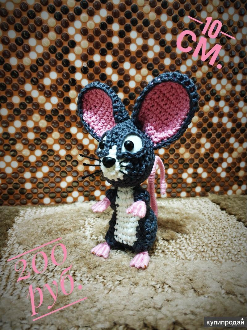 Вязаная мышь