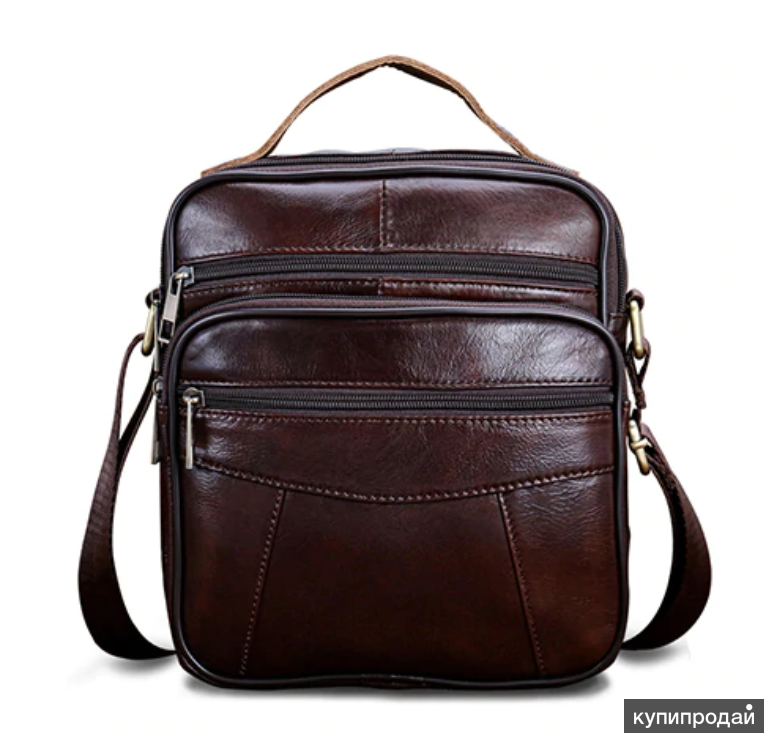 стильная мужская деловая сумка борсетка,100% натуральная кожа