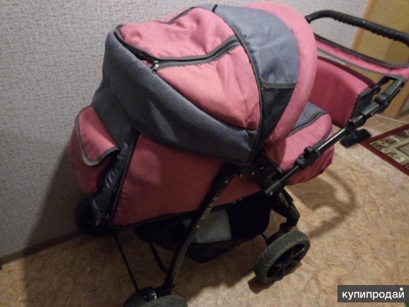 Продам детскую коляску для девочки 3в 1