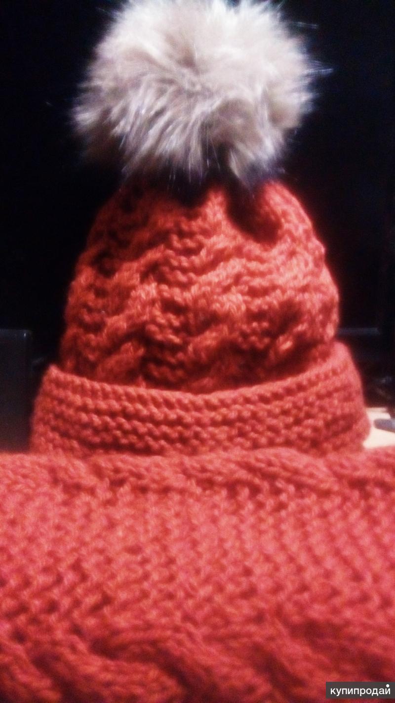Жен комплект зима шапка и снуд