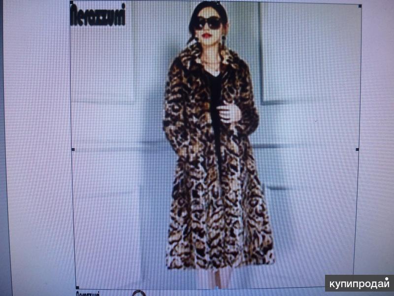 Новое модное женское пальто Nerazzurri из искусственного меха с леопардов