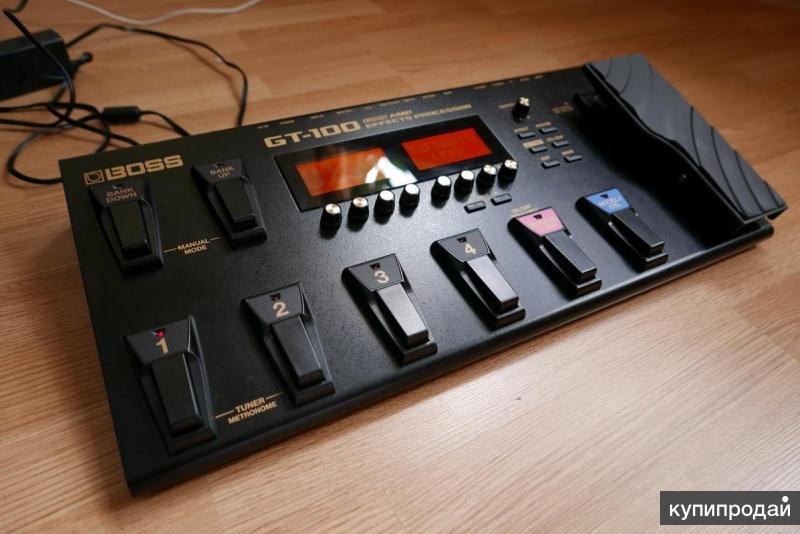 Гитарный процессор Boss GT - 100 + новый чехол