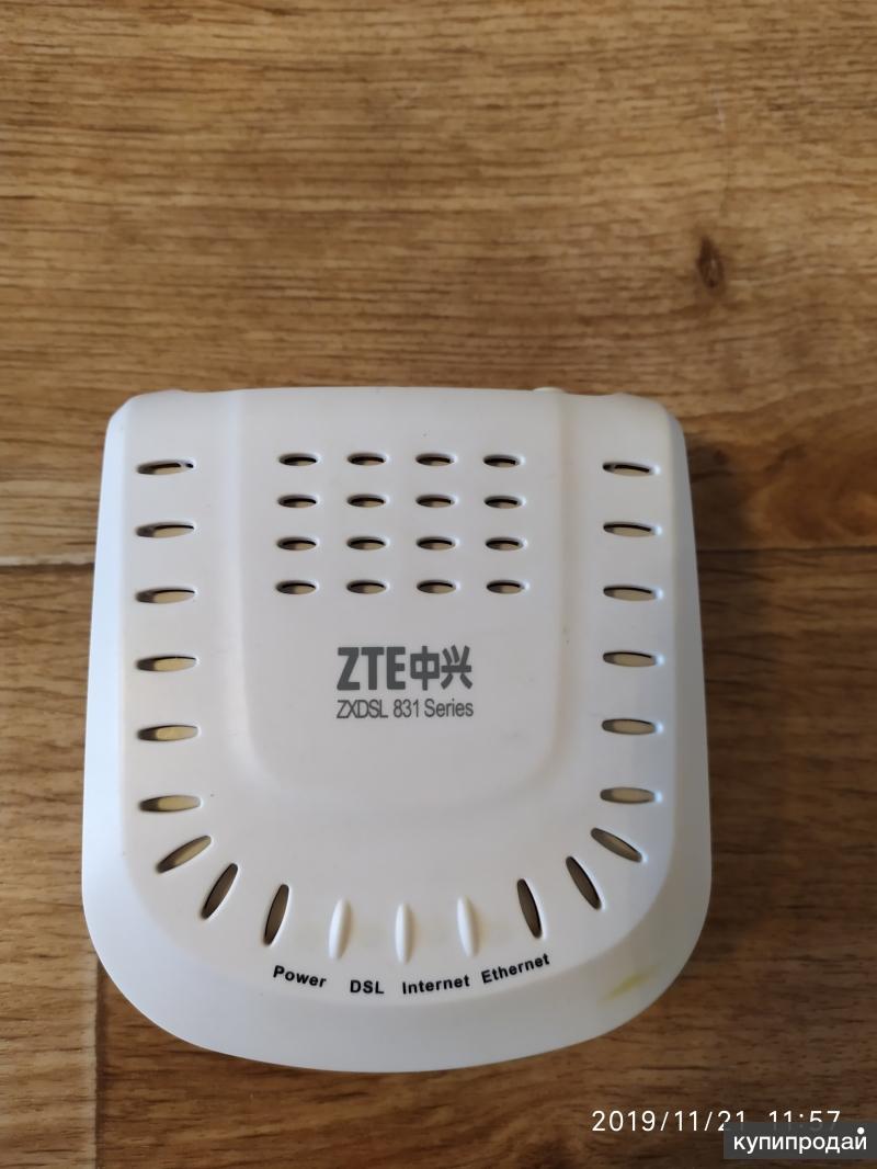 Продаю модем ZTE 831 с кабелем для него