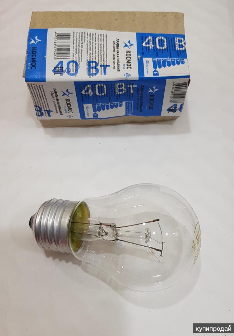 Лампы накаливания 40Вт/60Вт/75Вт/95Вт