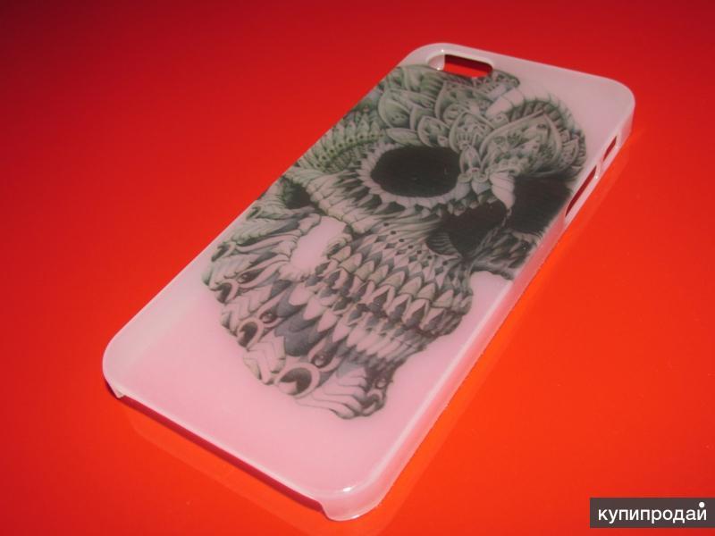Фосфорный светящийся полупрозрачный чехол case с рисунком черепа для iphone 5/5S