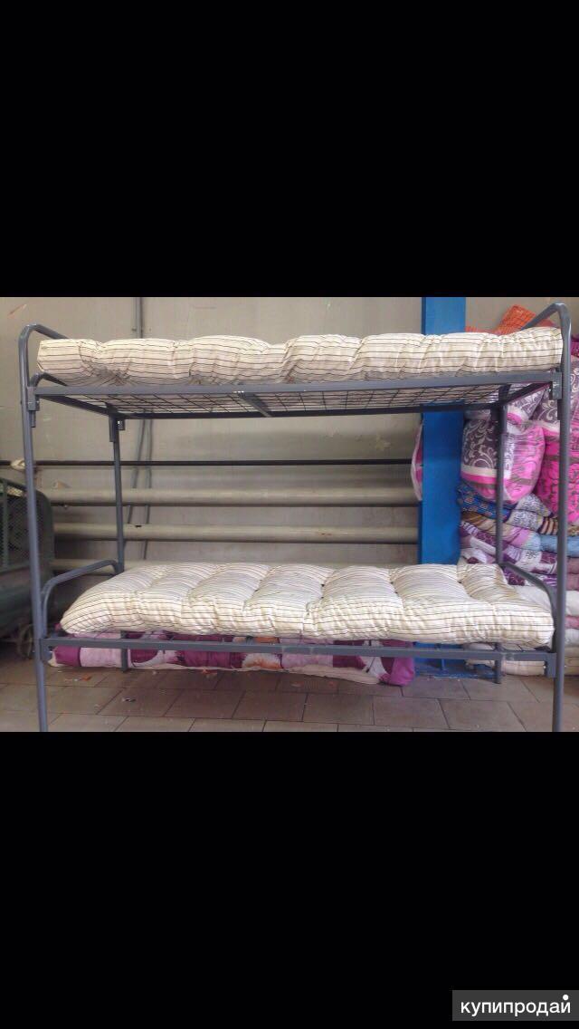Матрасы, одеяла, подушки, КПБ, 2-х ярусные кровати.