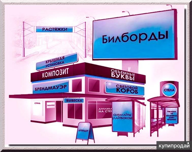 Изготовление наружной рекламы