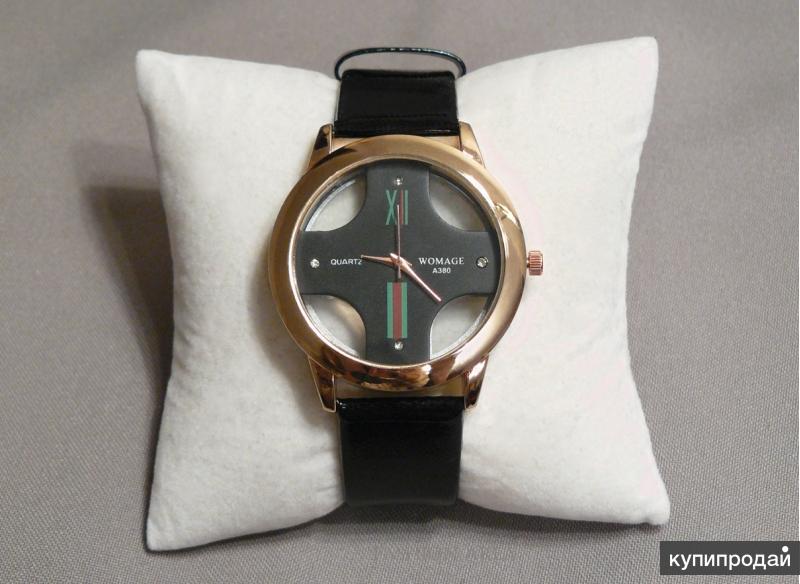 Часы Womage Laura Gold, черные W193